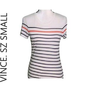 Like new Vince. striped round neck tshirt top smal